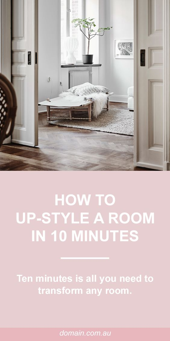 How to up-style a room in 10 minutes
