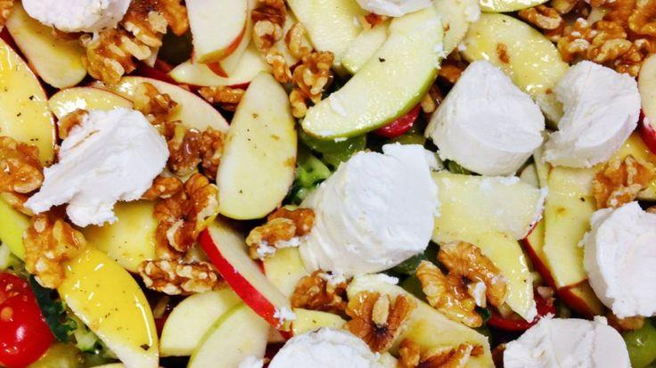 Geitenkaas walnoot salade