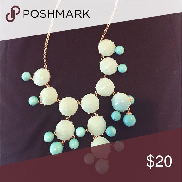 J Crew Turquoise bubble necklace J. Crew Jewelry Necklaces