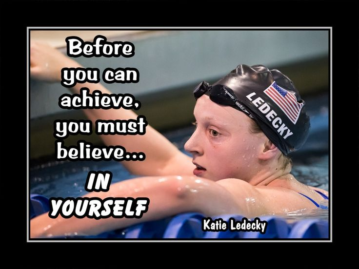 """Katie Ledecky Swimming Champion Swimmer Photo Quote Poster Wall Art Print 5x7""""- 11x14"""" Before You Can Achieve U Must Believe - Free USA Ship by ArleyArt on Etsy"""