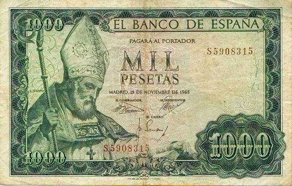 billetes de mil pesetas: