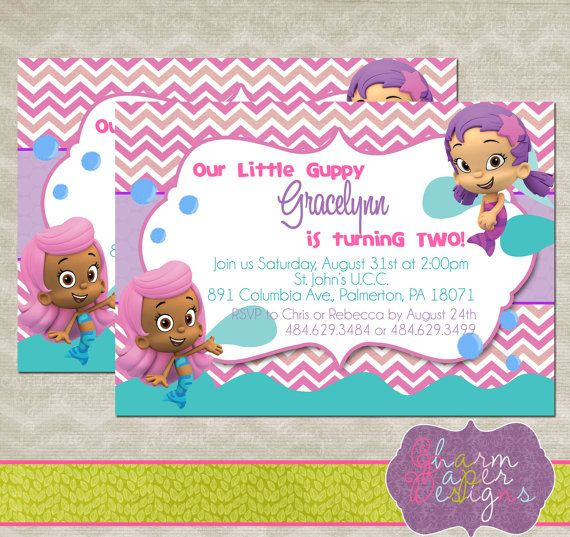 16 best bubble guppie birthday images on pinterest | bubble, Party invitations