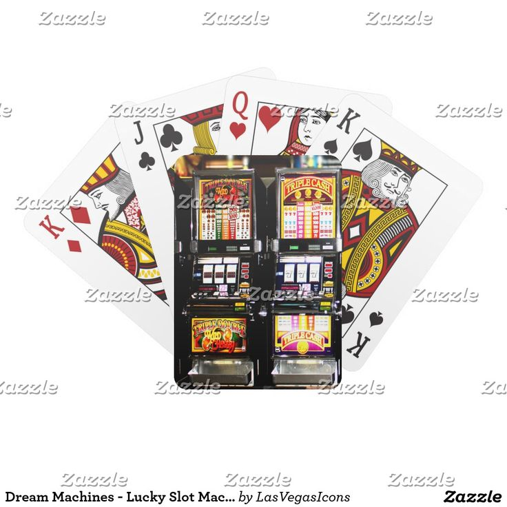 Dream Machines - Lucky Slot Machines Playing Cards  by #LasVegasIcons #gravityx9
