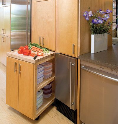 hidden work surface organize your kitchen an additional work surface is hidden in cabinetry with false cabinet fronts