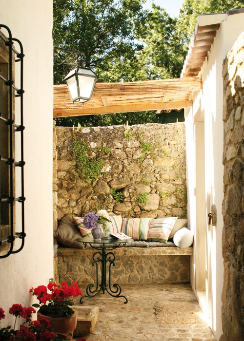 33 best images about case di campagna su pinterest - Bancos para terraza ...