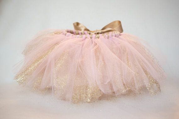 Pink and Gold First Birthday Outfit Cake Smash Tutu by FloralNFawn