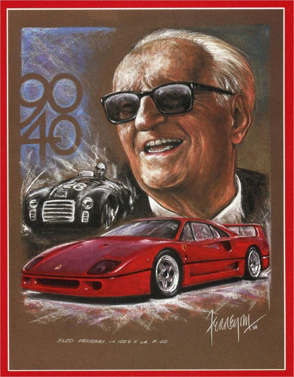 Enzo Ferrari died on 14 August 1988 in Maranello at the age of 90. His death was not made public until two days later, as by Enzo's request, to compensate for the late registration of his birth.[citation needed] He witnessed the launch of the Ferrari F40, one of the greatest road cars at that time, shortly before his death, which was dedicated as a symbol of his achievements. In 2002 the first car to be named after him was launched as the Enzo Ferrari.