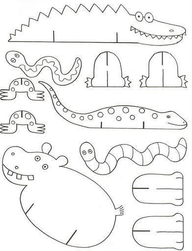 Krokodil, nijlpaard slang en salamander