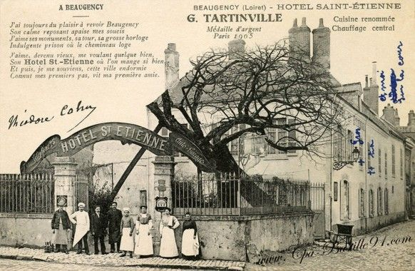 Beaugency - Hotel Saint-Etienne - G.Tartinville - Cliquez sur la carte pour l'agrandir et en voir tous les détails