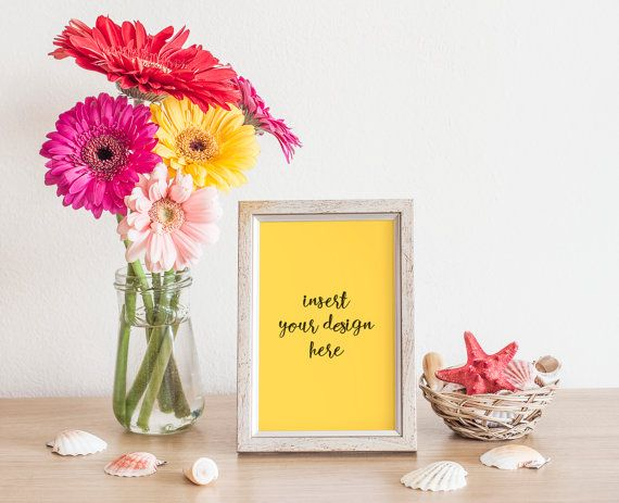 Silver/Grey Frame Mock-Up With Beautiful Colorful by JeanBalogh