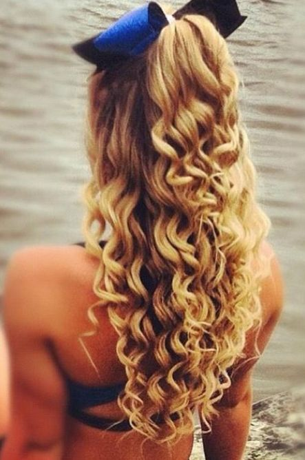 Hairstyles For Curly Hair Tied Up : 48 best prom images on pinterest