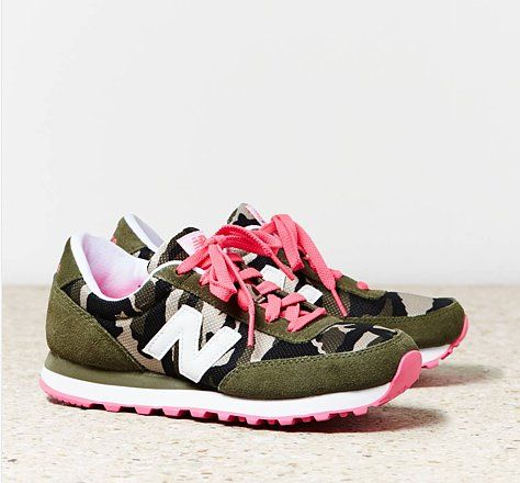 Workout in style - loving these camo New Balance sneakers