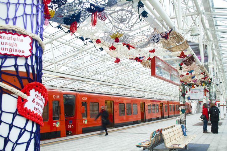 No Borders Textile Graffiti in Vuosaari, Helsinki Finland by Concretives collective www.concreatives.fi