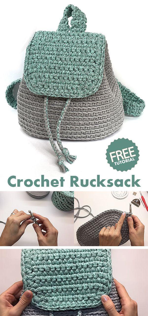 Backpack Rucksack Crochet