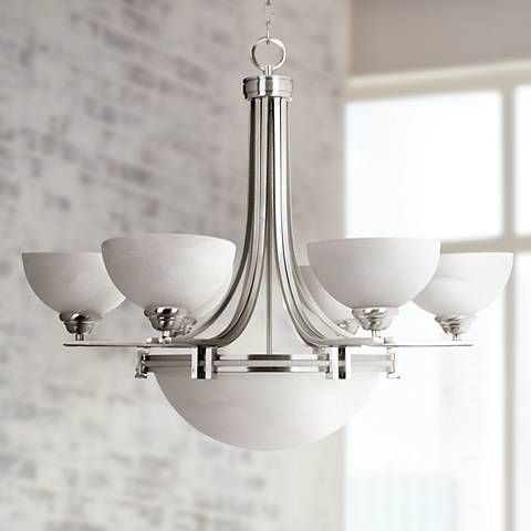 Possini euro deco nickel collection 8 light chandelier style 10816 led ceiling lightsart