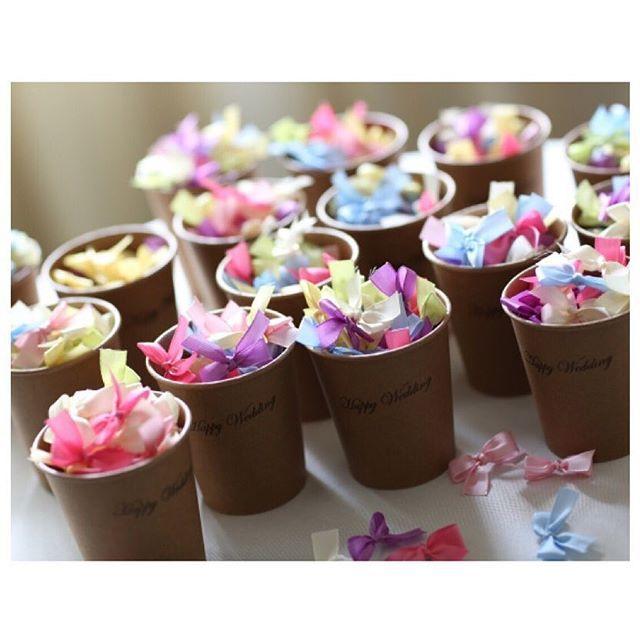 準備が地味で…どれだけ時間がかかっても、当日をむかえれば、そんなこと忘れてしまう。  #やっぱり結婚式が好き #リボンシャワー #名古屋 #wedding #party #ribbonshower #ribbon #結婚式 #weddingitem #weddingplanner #VOTREWEDDING