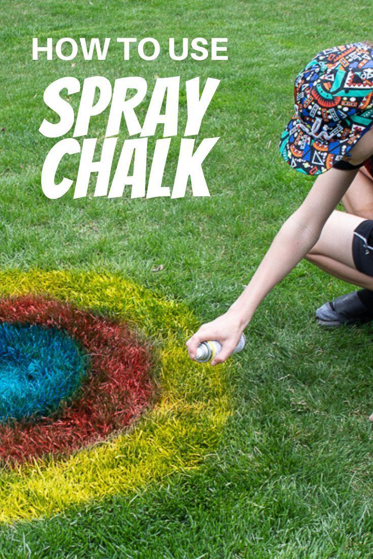 Outdoor fun with Spray Chalk! in 2020 Spray chalk, Chalk