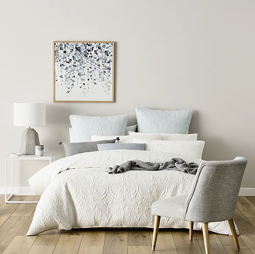 Madeline Quilt Cover Antique White