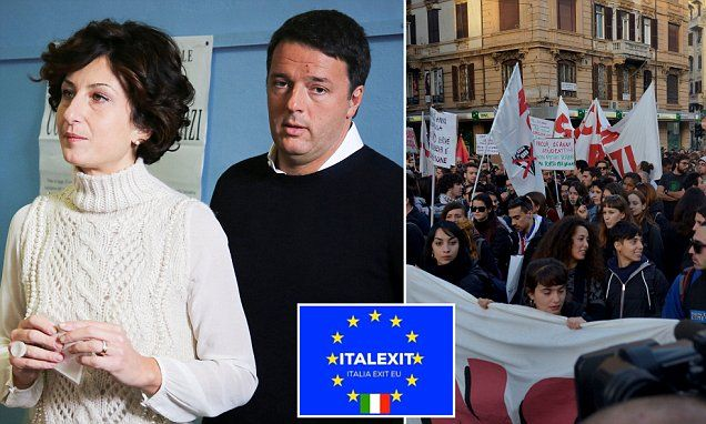 The mistake the Established Elite are making is THEY think we still believe what they say Italian Prime Minister resigns after EU referendum loss