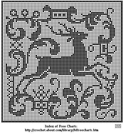 Printing Page for the Leaping Deer Chart For Filet or Cross-Stitch