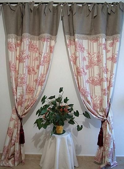 17 best images about rideaux on pinterest vintage window treatments outdoor curtains and. Black Bedroom Furniture Sets. Home Design Ideas