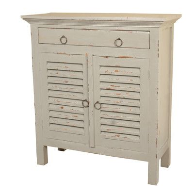 Beachcrest Home Edisto Cottage Shutter Cabinet