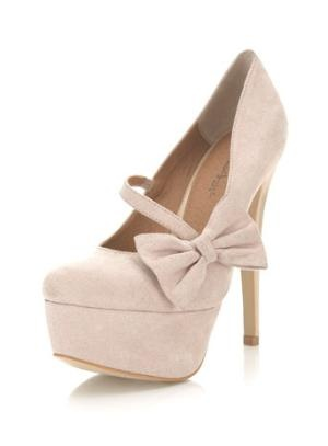 Saffi Cream Closed Toe Court - Miss Selfridge    I LOVE shoes that have to be buckled