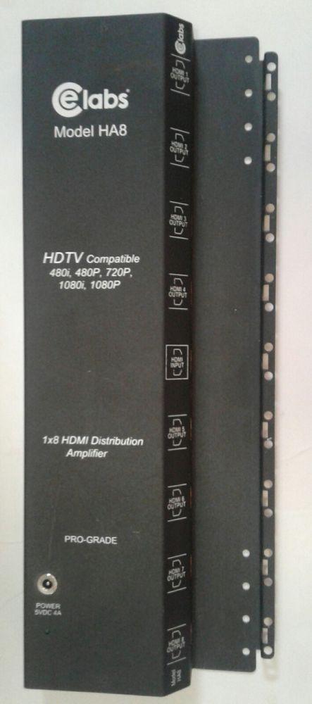 Ce Labs Model HA8 1 X 8 HDMI Distribution Amplifier Pro-Grade HDTV Compatible