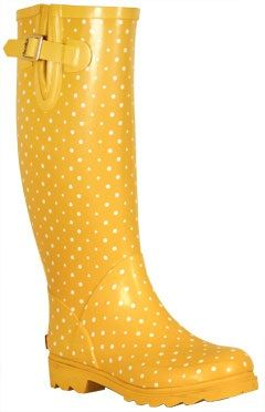 Apparently I am going to need these for summer. Instead of my sunglasses.    Style : Ten Freaking Adorable Rain Boots  Posh Dots Mimosa | Collection | Chooka