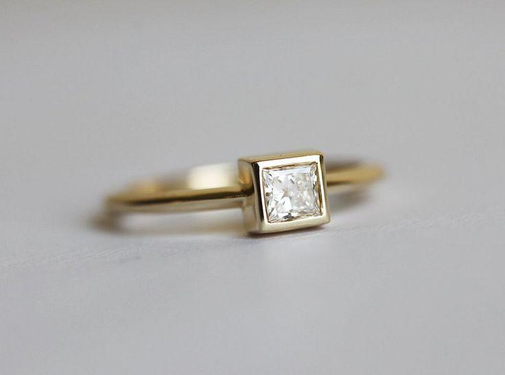 Sencillo anillo de compromiso anillo de compromiso por capucinne