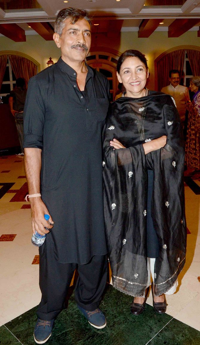 Prakash Jha with Deepti Naval at Ishaan Puri's birthday bash. #Bollywood #Fashion #Style #Beauty #Desi