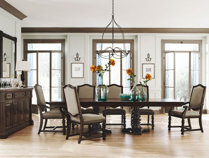 Pacific Canyon Double Pedestal Dining Table