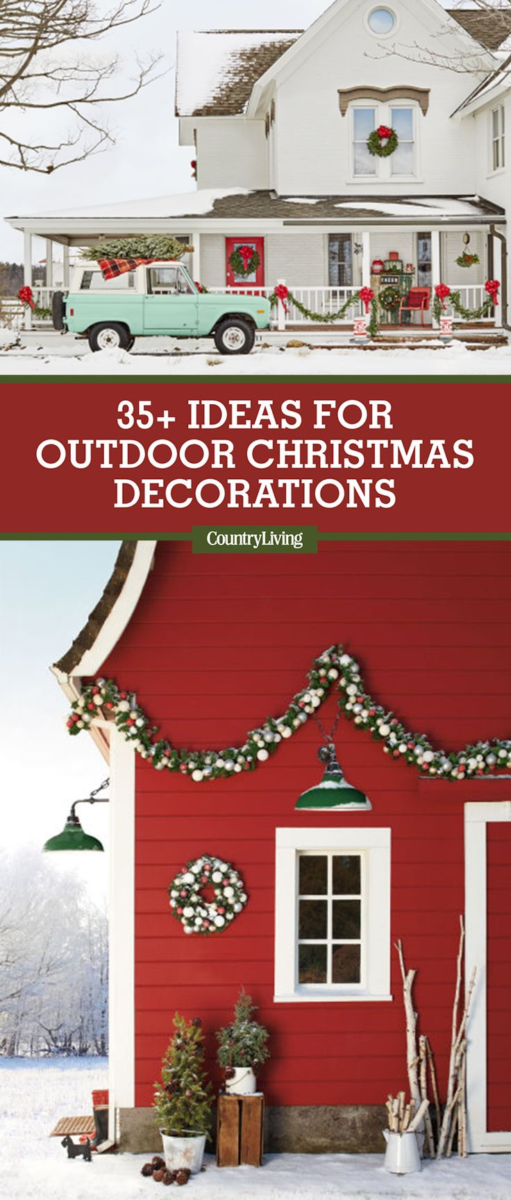 34 classic country ideas for outdoor christmas decorations for Country porch coupon code