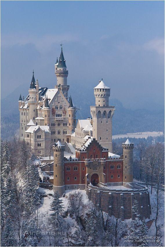 Замок Нойшванштайн, Германия - 360° Аэрофотопанорама. Обсуждение на LiveInternet - Российский Сервис Онлайн-Дневников