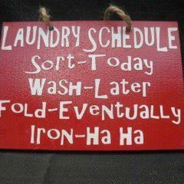 laundry: Laughing, Idea, Laundry Schedules, Quotes, Funnies, Laundry Rooms Signs, House, Iron, True Stories