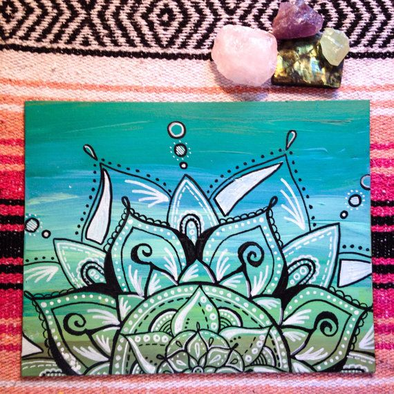 Mermaid Dreams // mandala // painting // acrylic by AbraKayDabra For Sale @ www.etsy.com/shop/abrakaydabra :)