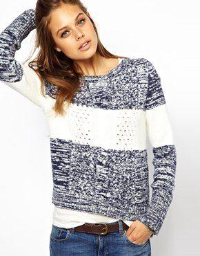Hilfiger Denim Stripe Aran Knit Jumper - Already thinking about the fall season