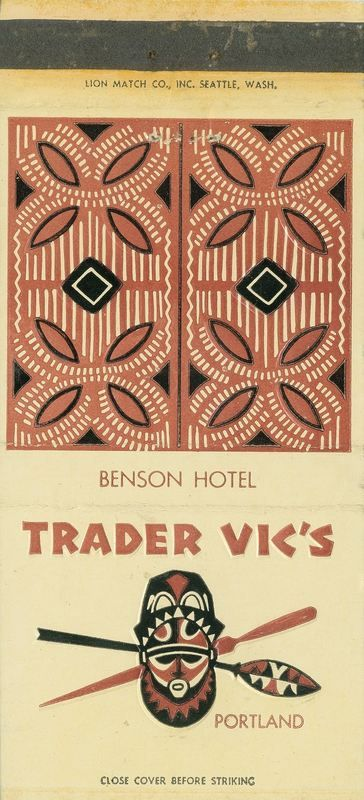 This classic Trader Vic's location operated in the Benson Hotel for many years: from 1959 until 1996. The location is now a steakhouse named El Gaucho. Trader Vic's returned to Portland with a new Pearl District location, which opened in June 2...