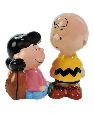 Take a look at this Lucy & Charlie Brown Football Salt & Pepper Shakers by Westland Giftware on #zulily today!