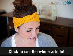 DIY headband. Directions are in Dutch, but the pictures are pretty clear.