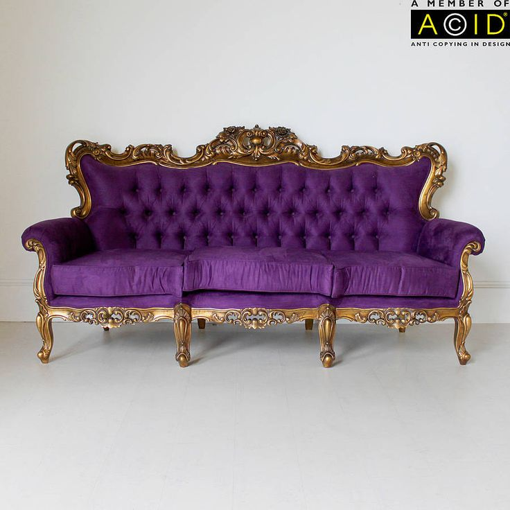 Louis Sofa In Purple And Gold