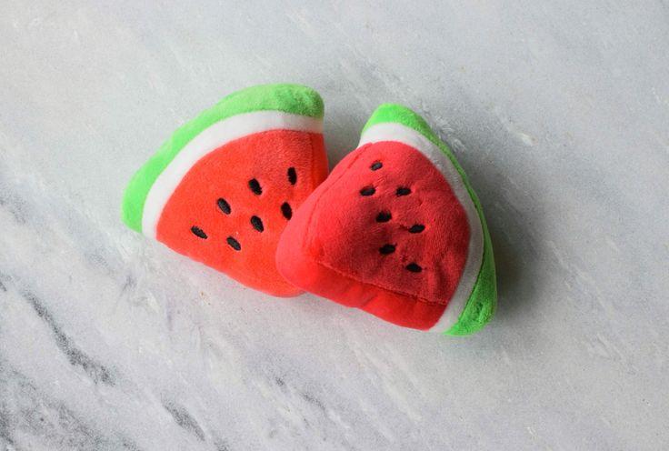 Watermelon Plush Dog Toy by Wolves of Wellington #dogtoy #plushtoy #playtime