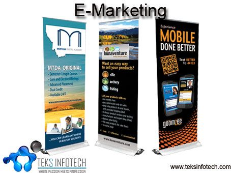 E-marketing refers to the use of the Internet and digital media capabilities to help sell your products or services.Here at  Teks Infotech we offer excellent E-marketing services for your business.