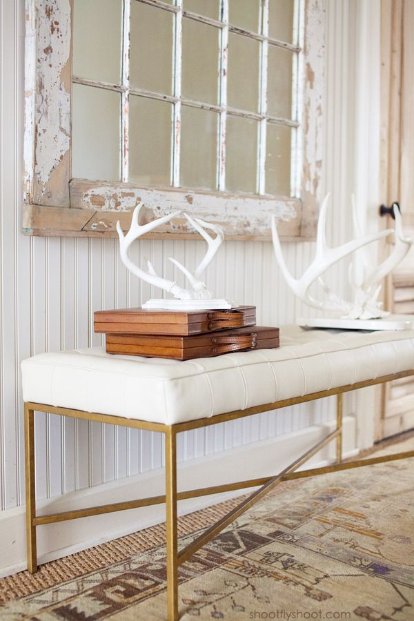Atchison Home | White Antlers | Beadboard Walls:
