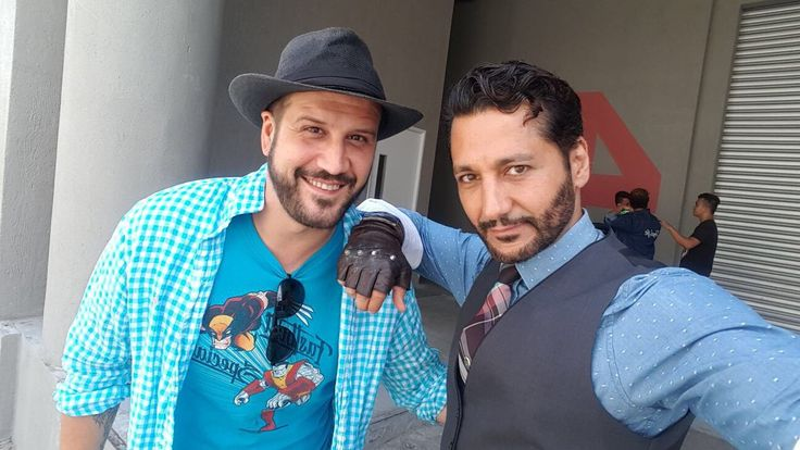 Great pose having Cas Anvar as Altair and Stefan Kapicic as Colossus think became excellent friends ToyCon 2017.