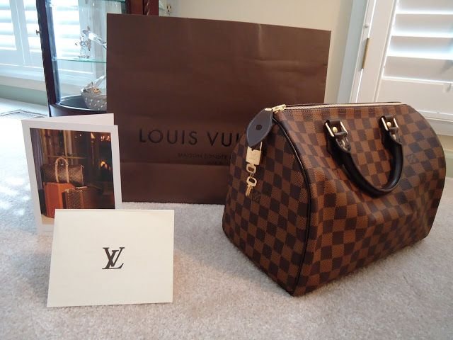 Louis Vuitton Damier Ebene speedy 30... a girl can dream!