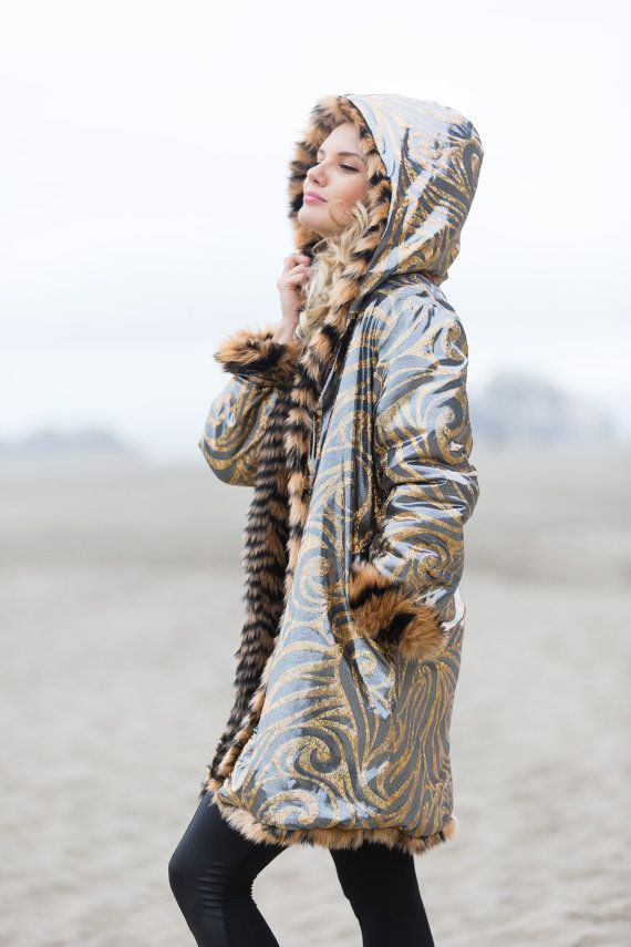 Fearless and affectionate Calm, but rebellious Free spirits and noble. If your spirit animal wears stripes, Tiger Festival Fur Coat is for you. This Tiger fur coat will be hand crafted and shipped to you from San Francisco. FEATURES: - reversible! Its an unforgettable feeling when you