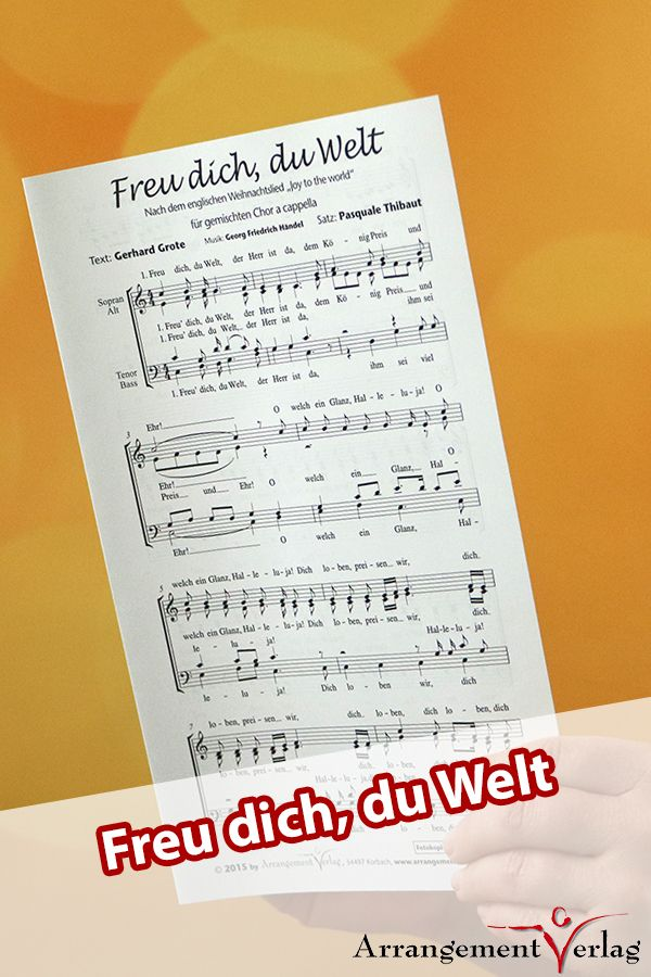 Freu dich, du Welt für Männerchor ✓ nach dem Weihnachtslied \