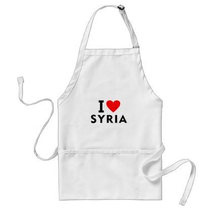 #I love Syria country like heart travel tourism Adult Apron - #country gifts style diy gift ideas