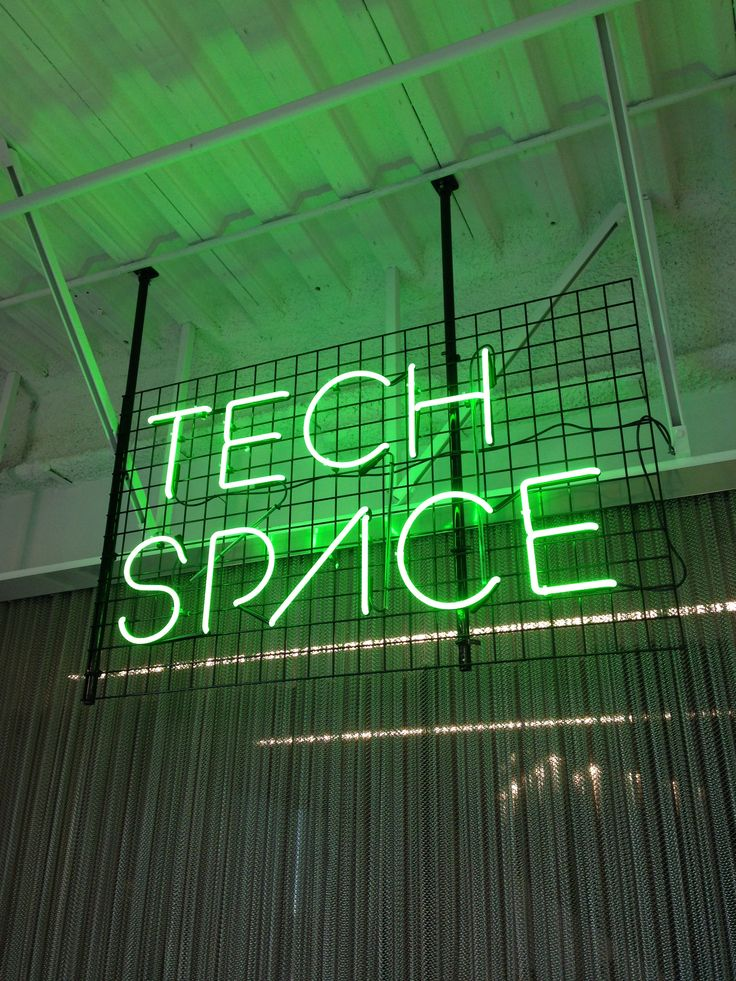 Neon signage for the IT center at Box's Redwood City ...